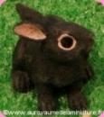LAPIN miniature en RESINE, Coloris NOIR