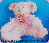 NOUNOURS miniatures - NOUNOURS assis ROSE