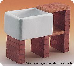 EVIER miniature sur Briques + Rangement - DF690