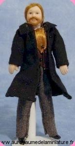 Personnage HOMME miniature MANTEAU