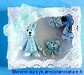 DECO / ACC. BB -  BOITE-CADEAU miniature BLEUE