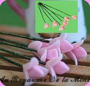 FLEURS COUPEES - FLEURS  miniatures, MF30 Coloris ROSE - VENDUES à l' UNITé