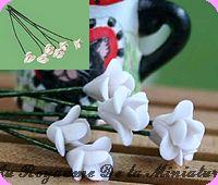 FLEURS COUPEES - FLEUR miniature,  Coloris BLANC - VENDUE à l' UNITé