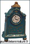 DECO - PENDULETTE miniature, Coloris TURQUOISE/DORé  -  D526