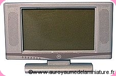 SALON - TV Ecran plat, Coloris GRIS - D1161