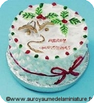 GATEAU miniature NOEL rond MERRY CHRISTMAS
