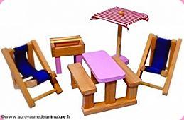 Gamme ENFANTS - MOBILIER miniature en BOIS = Jardin