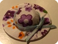 CHAPEAU miniature, Tissu LIBERTY  MAUVE