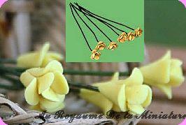 FLEURS COUPEES - FLEUR miniature, Coloris JAUNE - VENDUE à l' UNITé