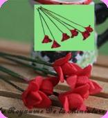 FLEURS COUPEES -  FLEUR miniature, Coloris ROUGE - VENDUE à l' UNITé