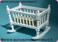 BERCEAU miniature en Bois, Coloris BLANC