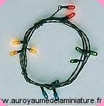 BROCANTE - GUIRLANDE ELECTRIQUE  > 12 AMPOULES  couleurs
