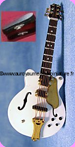 MUSIQUE LUXE - GUITARE miniature GIBSON blanche
