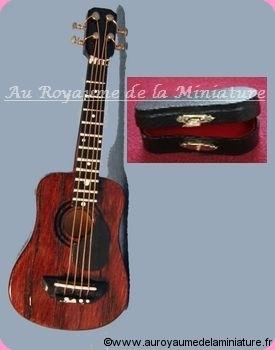 MUSIQUE LUXE - GUITARE miniature BRUNE