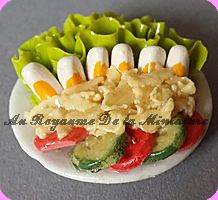 TRAITEUR -  ASSIETTE garnie / Oeufs Tomates Salade  FD48