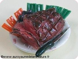 TRAITEUR - Petit POULET ROTI / COQUELET + Chiffonnade JAMBON / SALADE  +  COUTEAU