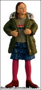 Personnage miniature en RESINE,  FILLE miniature, JUPE bleue
