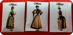 Set 3 PATRONS miniatures, Style VICTORIEN