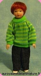 Personnage FILLE miniature avec NATTES