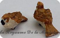 ANIMAUX miniatures >  OISEAU miniature BRUN / BLANC