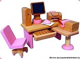 Gamme ENFANTS - MOBILIER miniature en BOIS = Bureau