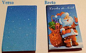 NOËL - LIVRE miniature - CONTES DE NOËL
