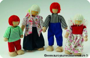 Gamme ENFANTS - Famille PAPA + MAMAN + FILLE + GARCON