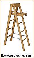 JARDIN - ECHELLE miniature en Bois VERNIS