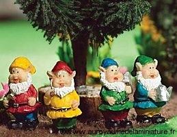 JARDIN miniature - Set 4 NAINS miniatures