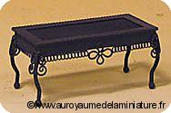 JARDIN miniature - TABLE basse en Métal BRUN