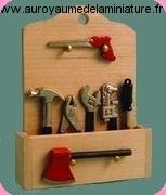 Set RANGEMENT en BOIS + OUTILS miniatures