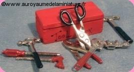Set BOITE à OUTILS + 8 OUTILS miniatures