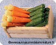 Cagette de FRAISES & PRUNES  miniatures D1018