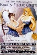 POSTER de PUBLICITE sur les CORSETS '' Harness''