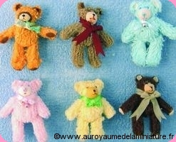 COLLECTION - Set 6 NOUNOURS  miniatures DEBOUTS -  D1010