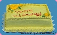 GATEAU miniature HAPPY BIRTHDAY