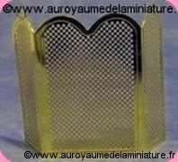 CHEMINEE - PARE-FEU miniature en LAITON doré