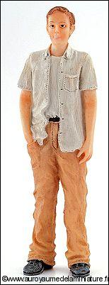 Personnage miniature en RESINE, HOMME chemise blanche