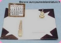 BUREAU - SOUS-MAINS miniature LUXE + ACCESSOIRES