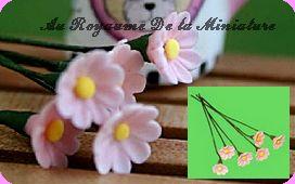 FLEURS COUPEES - MARGUERITE  miniature,  Coloris ROSE CLAIR - VENDUE à l' UNITé
