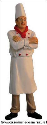 Personnage miniature en RESINE, CHEF / CUISINIER miniature
