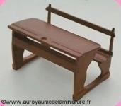 ECOLE - BANC d' ECOLIER miniature en BOIS, Coloris MERISIER