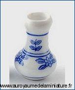 SALON / SEJOUR - VASE miniature, Motifs FLEURIS BLEU