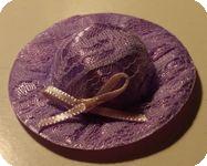 CHAPEAU miniature, Tissu & Dentelle MAUVE
