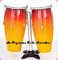 CONGAS miniatures DOUBLE - Echelle 1.4 