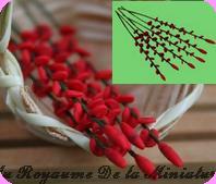 FLEURS COUPEES -  LUPIN miniature, Coloris ROUGE - VENDU à l' UNITé
