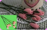 FLEURS COUPEES - TULIPE miniature,  Coloris ROSE - VENDUE à l' UNITé