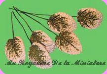 FLEURS COUPEES - FEUILLAGE miniature,  VENDU à l' UNITé