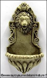 JARDIN - FONTAINE miniature murale LION