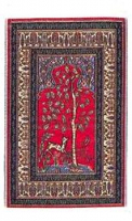 TAPIS miniature, 16.5 x 9.5 cm, Motifs ARBRE de VIE